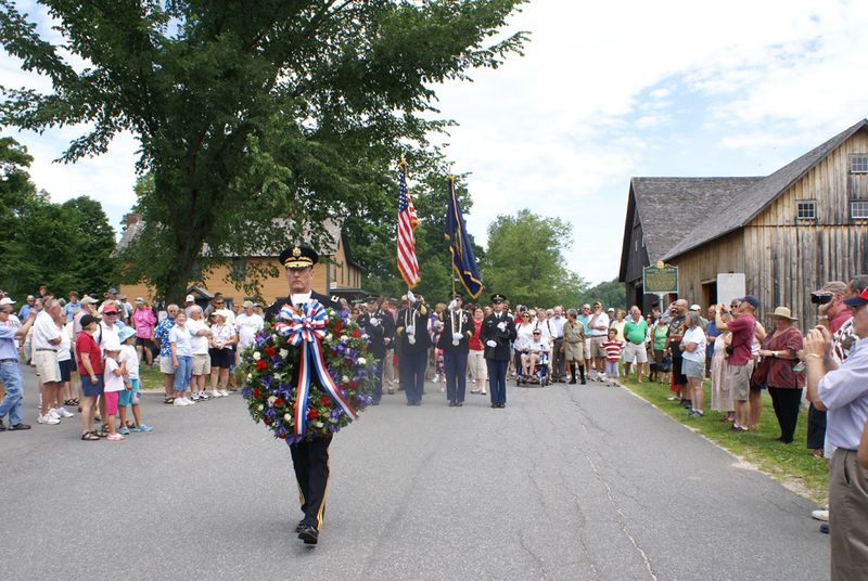 Coolidge fourth of July honor guard and wreath