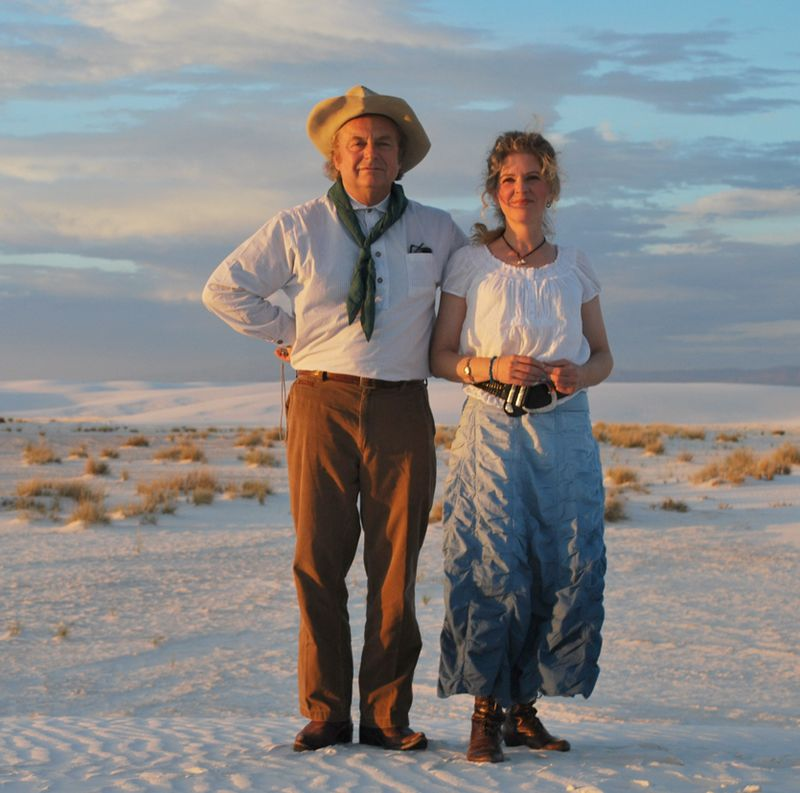 Connie dover and skip gorman at white sands
