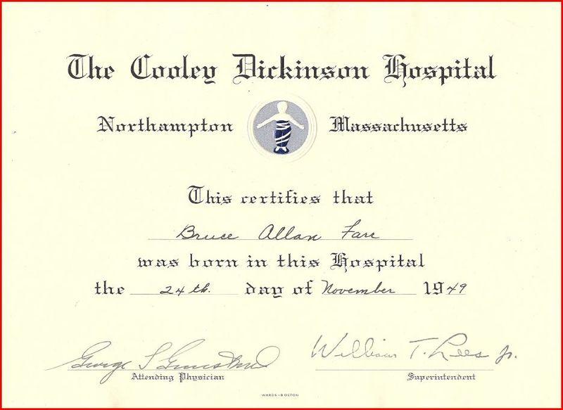 Bruce farr birth certificate