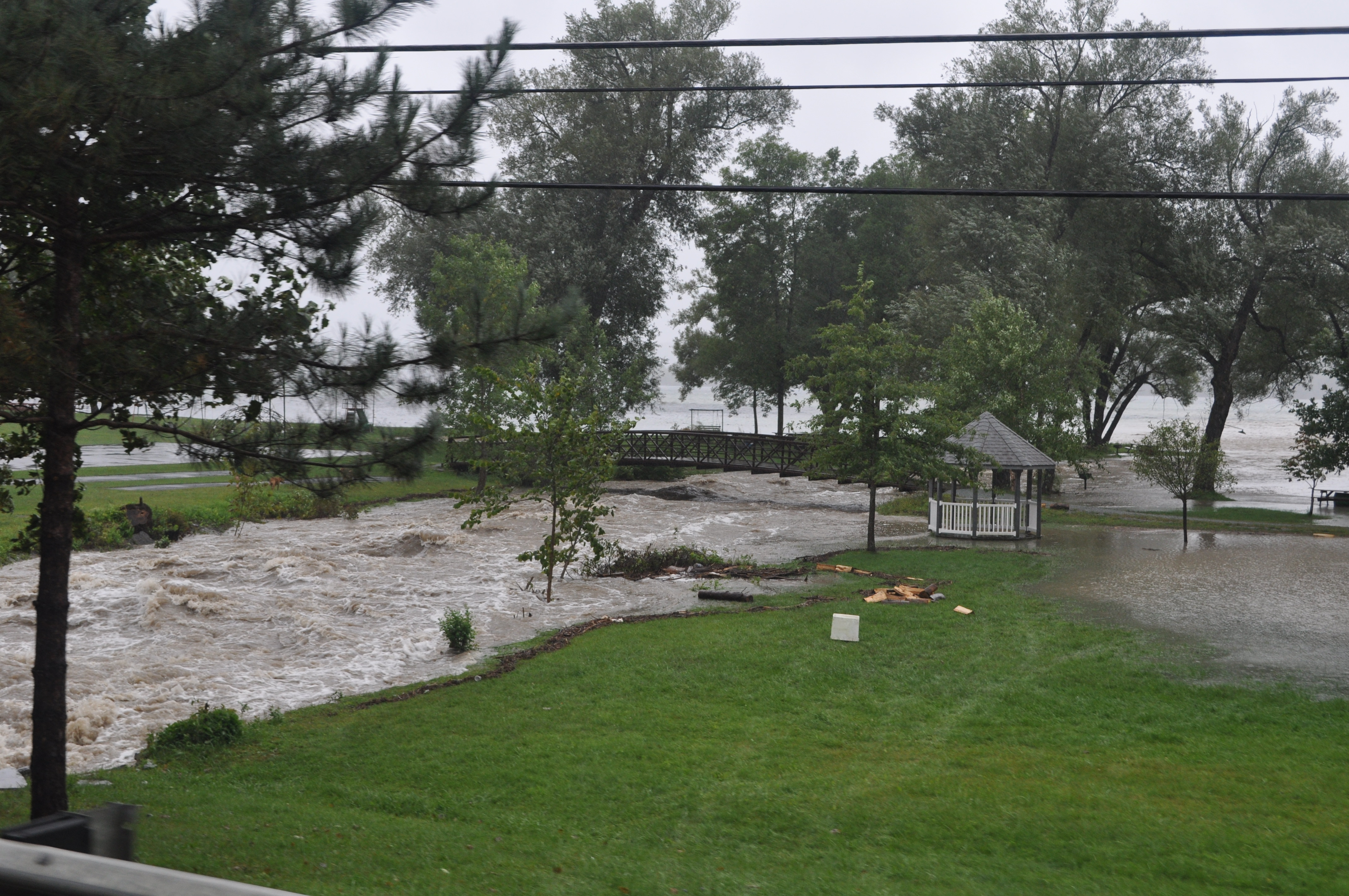 flooding at castleton state college u0026 lake bomoseen vermont today
