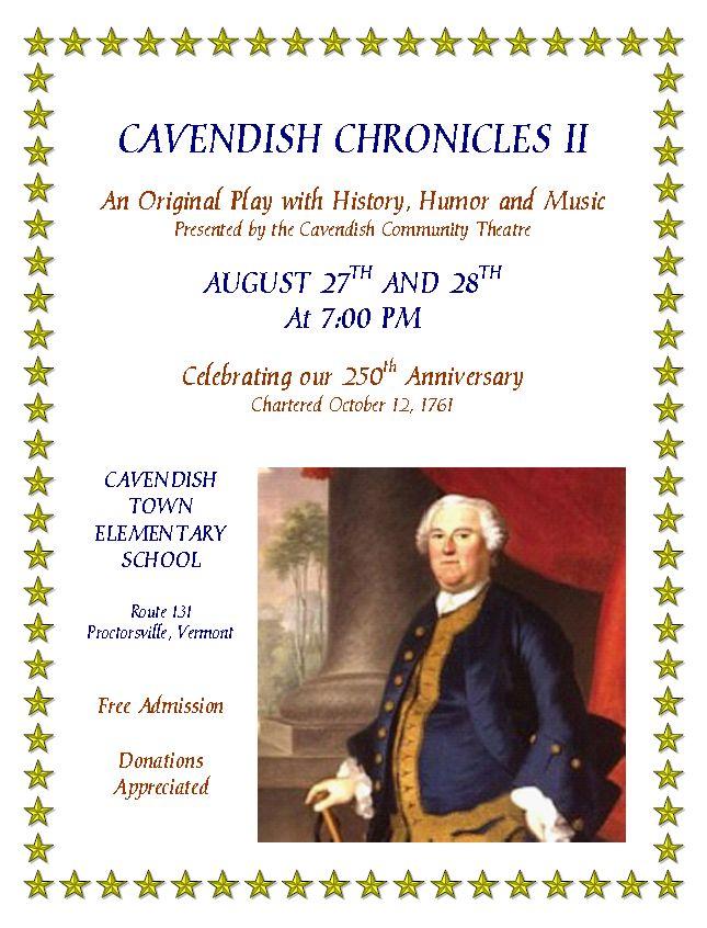 Cavendish chronicles 2