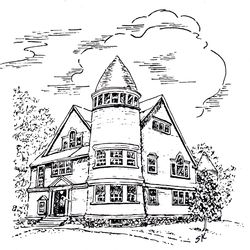 Susan's drawing of church revised 2010