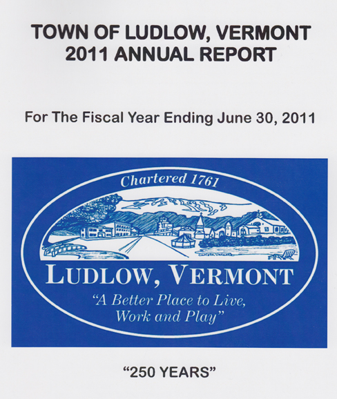 Ludlow town report 2012 cover page